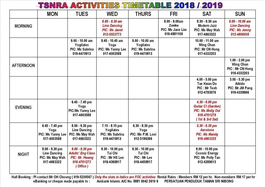 TSNRA TT 2018_19